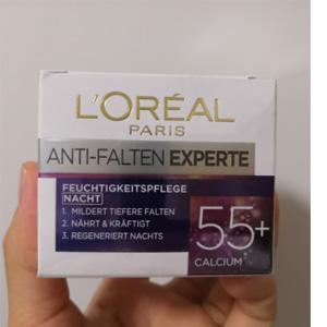 白菜价!L'Oreal Paris欧莱雅 冻龄专家55+钙源 抗皱保湿面霜50ml 到手约¥21.51
