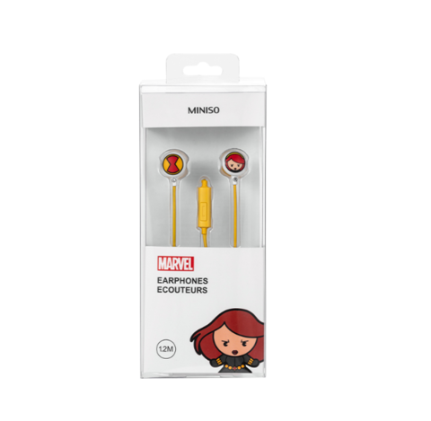MINISO 名创优品 漫威 卡通入耳式耳机 9.9元
