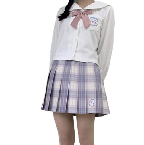 小乔酱 软萌兔联名款 JK制服 女士格裙 42cm S 128元