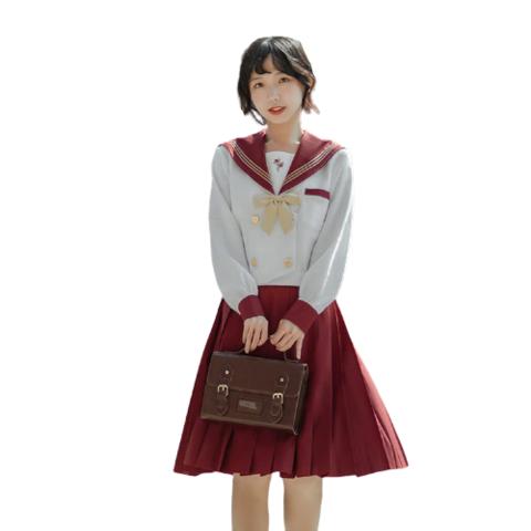 栗下町 契约玫瑰 JK制服 水手服 女士中间服上衣 白色 XS 89元(包邮)