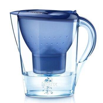 4日10点、考拉海购黑卡会员: BRITA 碧然德 Marella系列 滤水壶一壶一芯 3.5升 蓝色 85.44元包邮