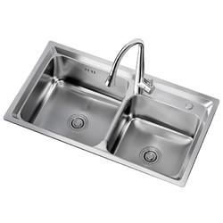 ARROW 箭牌卫浴 AE553211 304不锈钢水槽双槽套餐 395元包邮(2人拼)