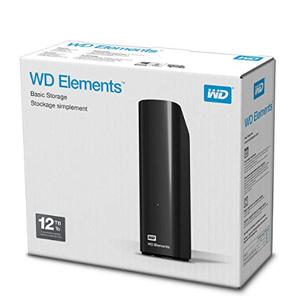 Western Digital 西部数据 Elements 移动硬盘 12TB 到手约¥1446.81