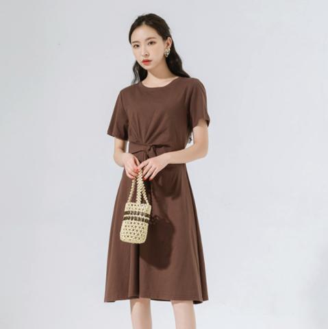 韩都衣舍 YDNG10308 收腰连衣裙 低至64元