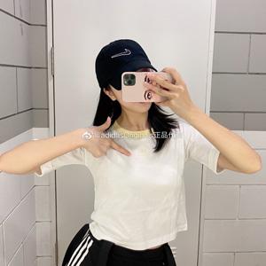 补码!Adidas三叶草小LOGO经典高腰鹅黄色T恤 折后价$11.99