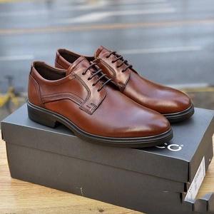44码!Ecco爱步 Lisbon里斯 男士牛皮系带牛津鞋 Prime会员免邮到手¥544.01