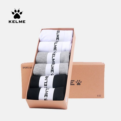 KELME 卡尔美 9991548 男款低帮运动短袜 6双装 39元包邮(需用券)