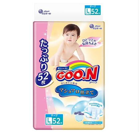 GOO.N 大王 纸尿裤 L52片 棉花糖系列 79.9元(需用券)