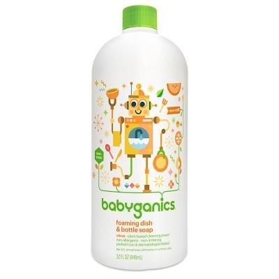 BabyGanics 甘尼克宝贝 泡沫型奶瓶餐具清洁液 946ml 65元包邮(需用券)