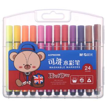 M&G 晨光 ACPN0396 小熊哈里系列水彩绘画笔 24支/盒 24色 *4件 +凑单品 21元(需用券,合5.25元/件)