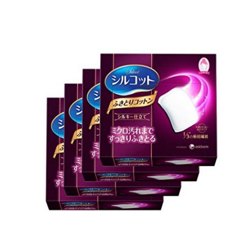 unicharm 尤妮佳 1/3省水化妆棉 32枚 *2件 21.6元包邮包税(合10.8元/件)