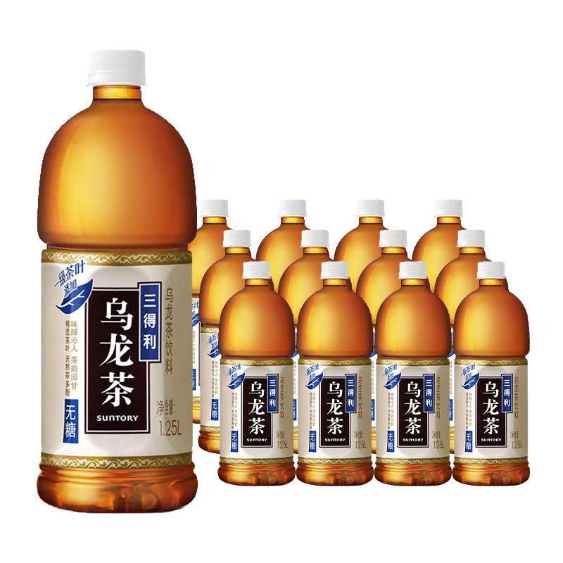 SUNTORY 三得利 乌龙茶大瓶 无糖 1.25L*6瓶 37.5元包邮