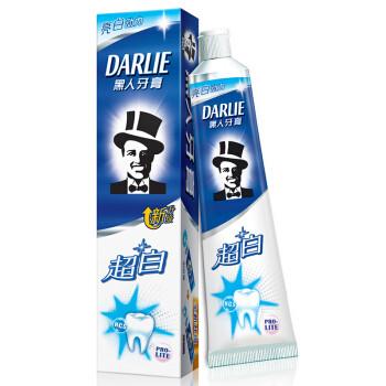 DARLIE 黑人 超白 牙膏 190g 单支装 *10件 99元包邮(合9.9元/件)