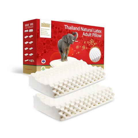 10日10点: TAIPATEX 天然乳胶颗粒按摩高低枕 2只装 289元包邮
