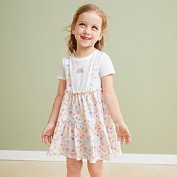 Mini Balabala 迷你巴拉巴拉 女童假两件背带裙连衣裙 59.9元包邮