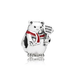 PANDORA潘多拉796466EN39圣诞北极熊串珠 119元