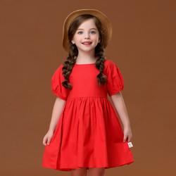 I.K 印象童年 女童纯棉红色连衣裙 36元包邮(需用码)