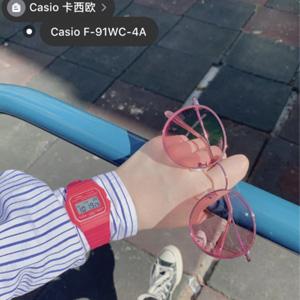CASIO卡西欧 F-91WC系列糖果色方块表 到手约¥170.2