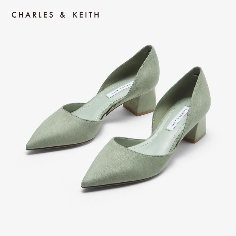 10日0点: CHARLES & KEITH CK1-60920181 女士尖头粗跟单鞋 149元包邮