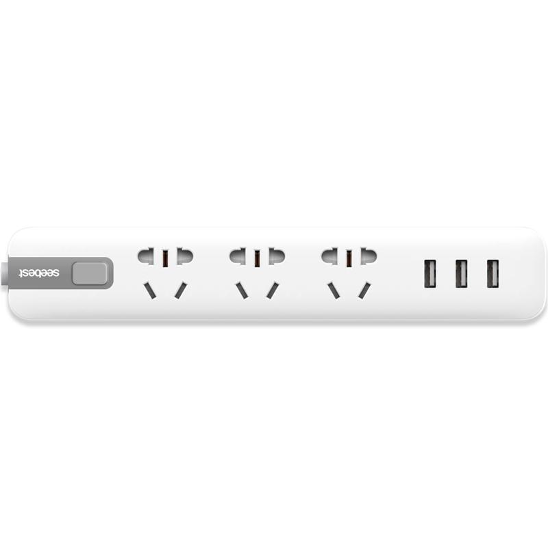 视贝 S033U 多功能USB插排 3插位+3USB 29元包邮(需用券)