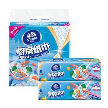 Vinda 维达 抽纸纸巾 厨房用纸 80抽*12包 *3件 21.42元(合7.14元/件)
