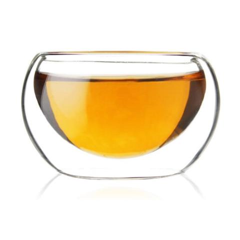 beihe贝合 高硼硅双层玻璃茶杯50ml 3个装 9.9元包邮