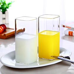 明尚德 ZB195 知心对杯 高硼硅耐热玻璃 400ml*2只 *2件 19.9元包邮(合9.95元/件)