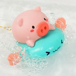 KIDNOAM 衾美 卡通小猪骑飞鱼游泳喷水 2只装 13.9元包邮(需用券)