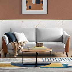 10日0点: KUKa 顾家家居 DK.2030 皮布结合半拆洗沙发 3双 2999元包邮(多重优惠)