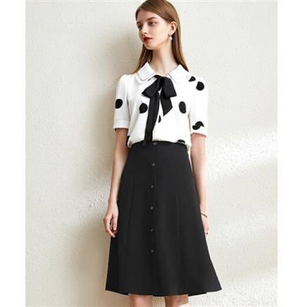 10日0点:尚都比拉 JD102Z30632 波点雪纺A字裙套装 139元包邮(需用券)