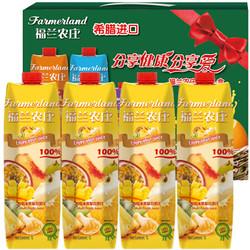 京东PLUS会员: 福兰农庄(Farmerland)100%果汁 缤纷水果复合 1L*4瓶 *5件 98.8元(多重优惠)