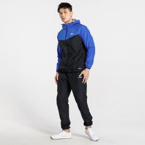李宁国潮男款连帽长袖运动套装大logo足球系列 115元