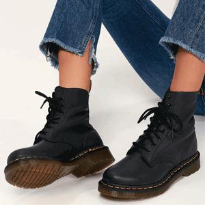 Dr. Martens Virginia 女款黑色马丁靴 售价$160