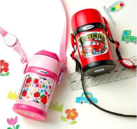 Zojirushi象印SC-ZT45-PA儿童保温杯 两用杯 450ml 到手¥151.99
