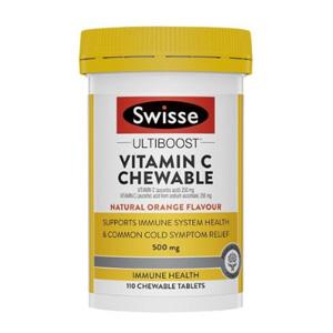 Swisse Ultiboost 维生素C天然橙味咀嚼片 110片 特价AU$6.95(约¥34)
