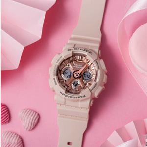 Casio卡西欧G-Shock系列 BA-130-4AER女士手表 魅惑粉 凑单到手¥593.95