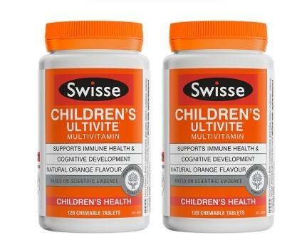 24日10点、考拉海购黑卡会员: Swisse 瑞思 儿童复合维生素咀嚼片 120片 2瓶装 105.6元包税包邮