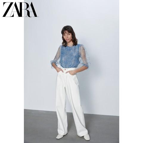 ZARA 03564022400 女士硬纱衬衫 59元
