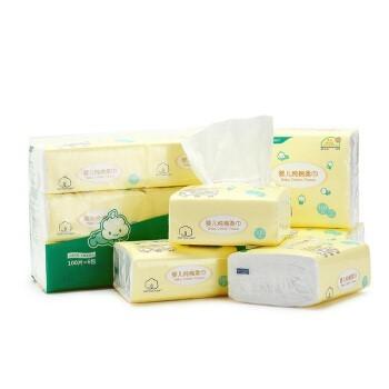 Purcotton 全棉时代 棉柔巾一次性洗脸巾 100抽/包 1提 6包/提 39.5元包邮(需用券)