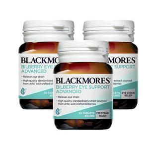 新包装!Blackmores澳佳宝蓝莓护眼片30粒*3件装 特价AU$46.95(约¥235)包邮包税