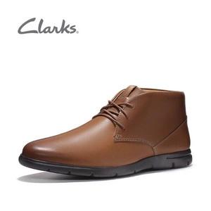多码好价!Clarks其乐 Vennor Mid 男士真皮踝靴 到手低至¥278.66