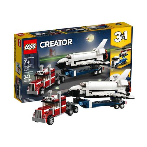 考拉海购黑卡会员: LEGO 乐高 创意百变系列 31091 航天飞机运输车 *3件 低至130.24元