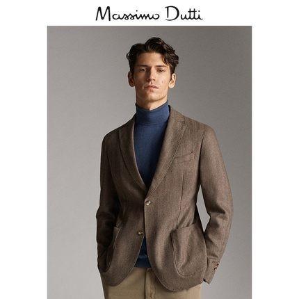 Massimo Dutti 02054265710 男士羊毛和山羊绒西装 590元包邮