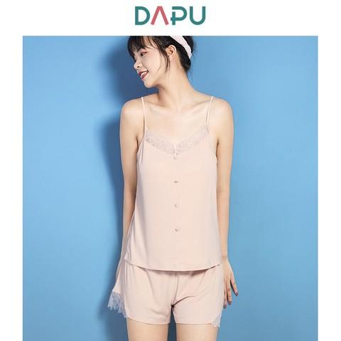 DAPU AE2F12216 吊带短裤家居服套装 63.52元包邮(需用券)