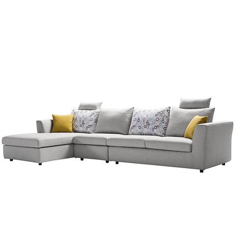 15日0点: KUKa 顾家家居 2053 布艺可拆洗沙发组合 3+躺 4499元包邮