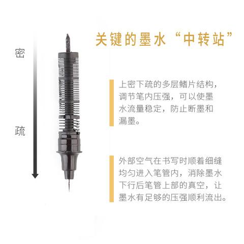 Snowhite 白雪 PVR-155 直液式走珠笔 0.5mm 10支 8.8元包邮(需用券)