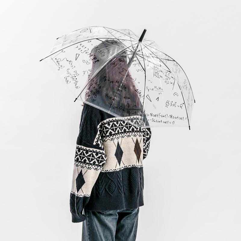 MINISO名创优品 EVA 涂鸦长柄伞 透明雨 低至11.3元
