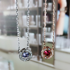 低价!Swarovski施华洛世奇跳动的心项链 银链蓝钻款 5279425 到手¥472.06