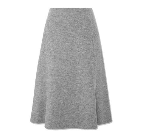UNIQLO 优衣库 418881 女款羊毛混纺喇叭裙 79元