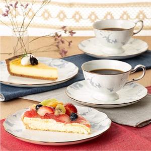 NARUMI 鸣海 Rose Blanche 双人下午茶骨瓷杯碟6件套 到手约¥492.56